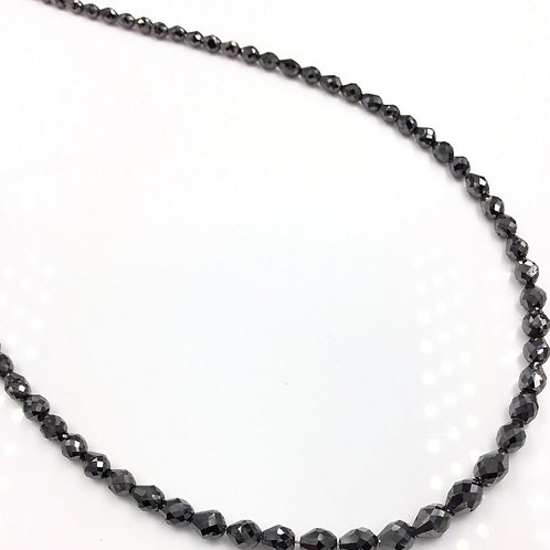 Black Diamond Long Drilled Beads 14 Inches 2.5x3 To 5x4 mm Approx 29.15 Carats