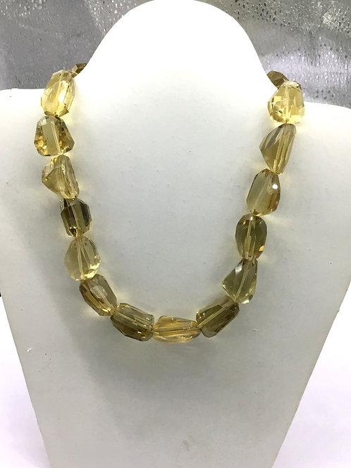 Honey Quartz 15 '' Faceted Tumble 1 Strand Natural Gemstone 467 Ct