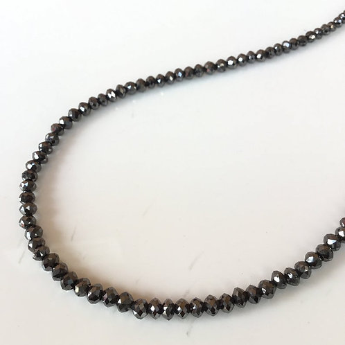 Black Diamond Faceted Beads Natural Gemstone
