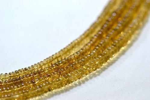 Beer Quartz - 16'' Smooth Tyre 1 Strand Gemstone Jewelry Beads Handmade