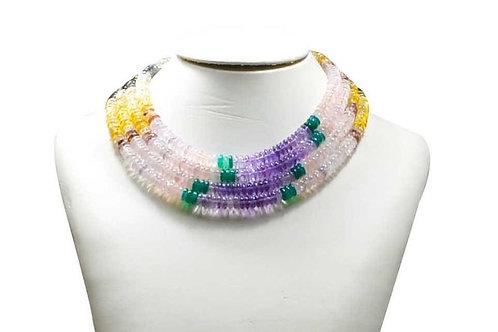 Mixed Gems - 16'' Smooth Tire 1 Strand gemstone  Jewelry Beads