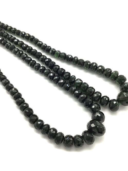Green Tourmaline Faceted Beads 1strand 197carats size- 5 to 9 MM