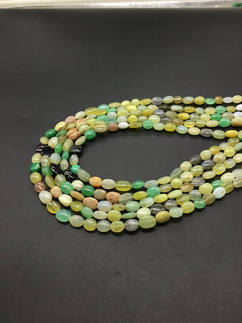 Multiple Mixed Gems Gemstone Plain Mani Natural Gemstone Necklace 16''