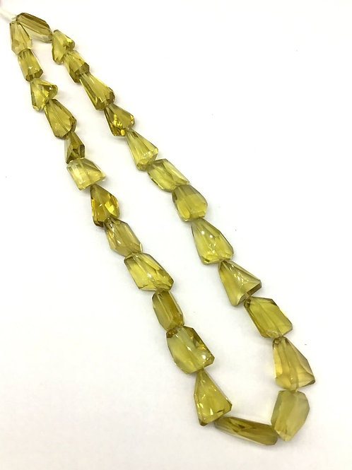 Honey Quartz 16 '' Faceted Tumble Natural Gemstone Necklace 1 Strand 308 ct
