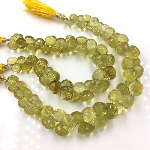 Honey Quartz Faceted Fancy Shape Beads 1 Strand Natural Gemstone