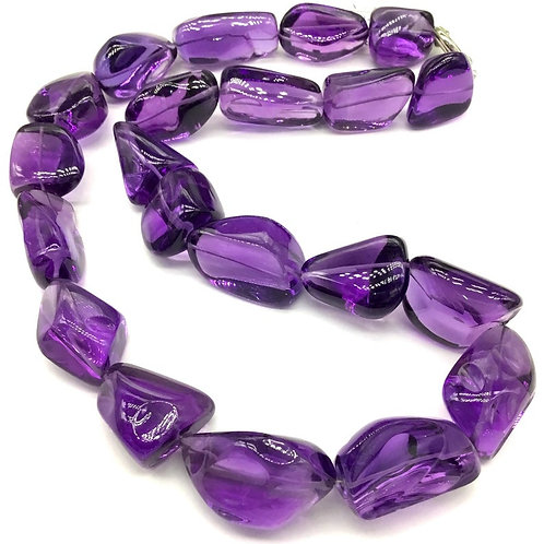 Amethyst Tumble Plain 20'' Big Size AAA + Top Quality 1029.15 CT16'' Top Quality