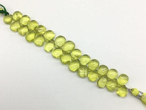 Lemon Quartz 5 '' Plain Pear Shape 100 % Natural 108.00 CT Gemstone Necklace
