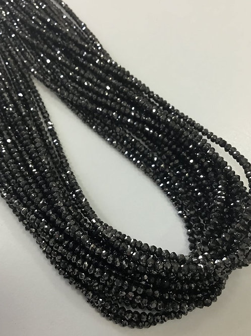 Black  Diamond Beads 14 Inches 1.5 To 2.5 mm Approx