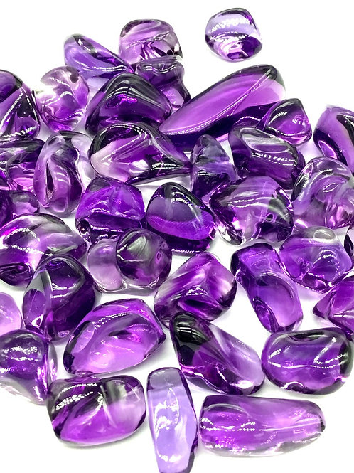 Amethyst Tumble plain Gemstone Quality AAA+ 1 Piece 18.80 Ct Gemstone