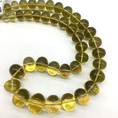 Honey Quartz 16 '' AAA + Quality 100 % Natural Gemstone 640 Ct Smooth Big Size