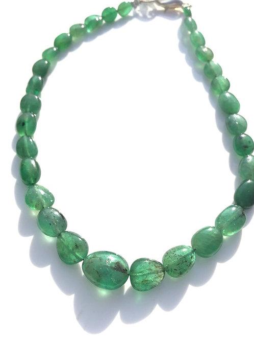 Natural Emerald Ovals Beads Bracelet Natural Gemstone