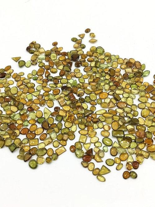 Multi Tourmaline cut gemstone top quality natural gemstone 150 pieces 30 ct