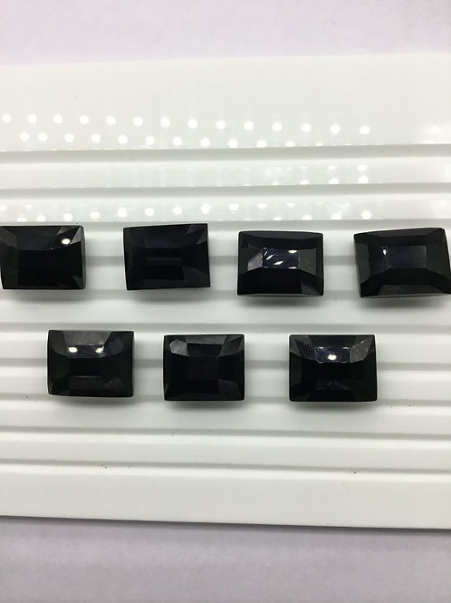 Black Onyx Faceted Fancy Cut Shape 7 Pieces 80.70 Ct 100 % Natural Gemstone