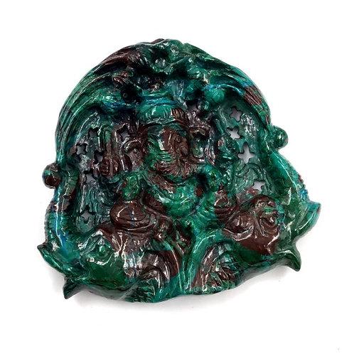 Lord Ganesh Carving Gemstone Chrysocolla Natural Gemstone God Carving Gems