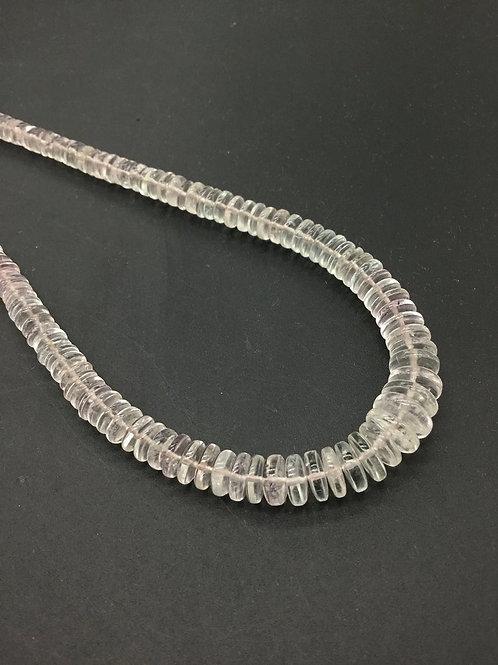 Morganite beads Tyre Shape Top Shape 16 '' Plain Tyre quality 1 Strand 126.50 Ct