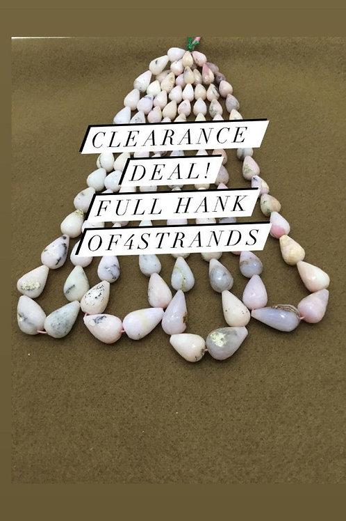 Closeout Sale price Pink Opal Plain Balls 4 strands full hank wholesale closeout