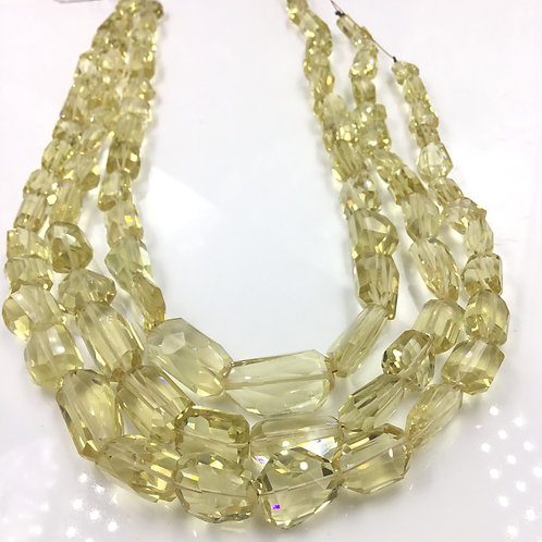 Citrine Faceted Tumble 1 Strand Natural Gemstone