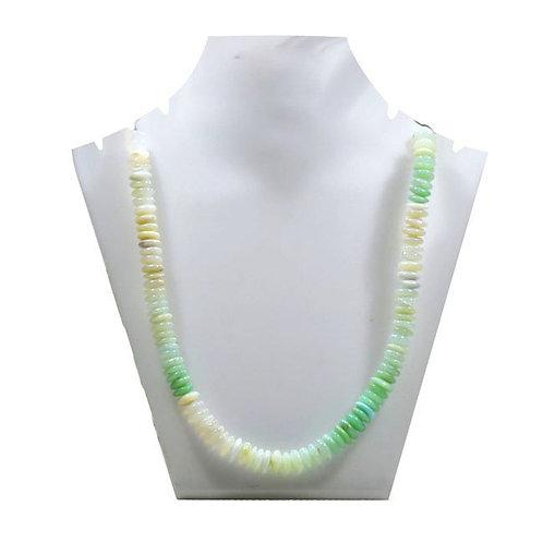 peru Blue Opal Peru - 16'' Smooth Tyre Gemstone 1 Strand Jewelry Beads Handmade