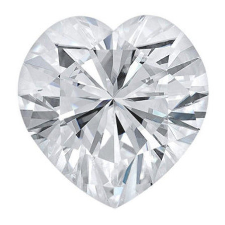 Heart Moissanite D COLOR VVS1 Loose- Gemstone