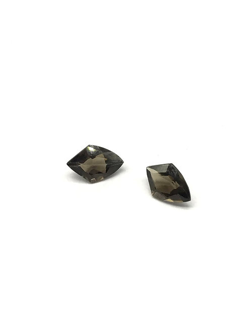 Smoky Quartz Fancy Pair Shape Faceted natural gemstone jewellery Making 2 Pieces
