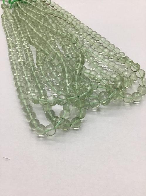 Closeout Sale price Green AmethystPlain Balls 7 strands full hank wholesale