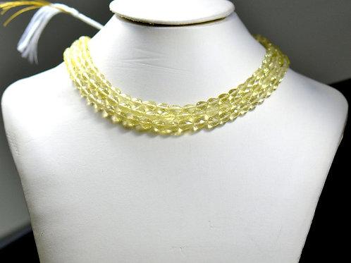 Lemon Quartz ! - 16'' Faceted Drops 1 Strand Brazil Gemstone Jewelry Beads