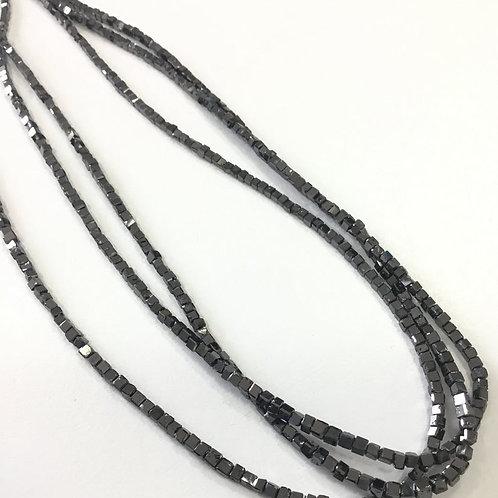 Black Cubes Diamond Beads Small Size