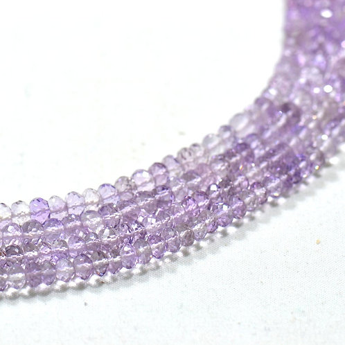16 '' Pink Amethyst Brazil faceted Beads 1 Strand  Handmade Natural