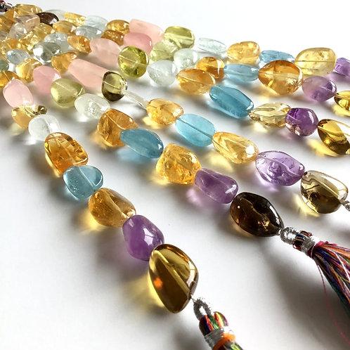 FULL HANK !! Multiple Mixed Gems Plain Tumble 6 Strand Natural Gemstone