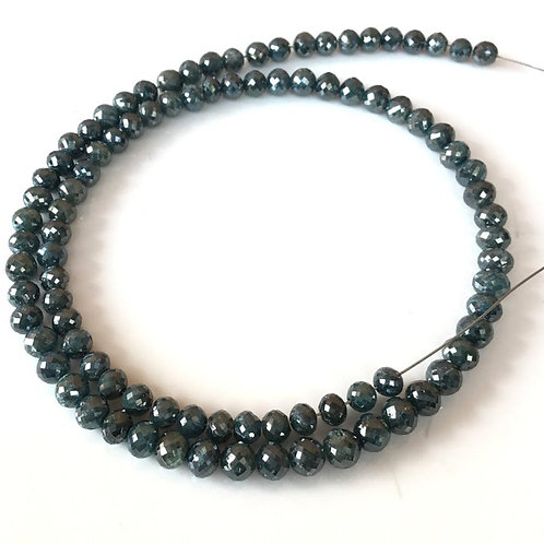 Blue Diamond Faceted Beads Natural Gemstone