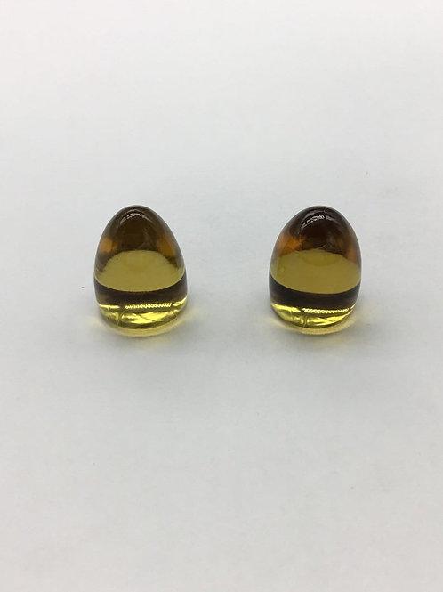 Honey Quartz Plain Fancy Pair Bullet 65carats total size-15x19MM