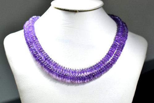 Amethyst - 16'' Brazil Smooth Tyre 1 Strand Gemstone Jewelry Beads