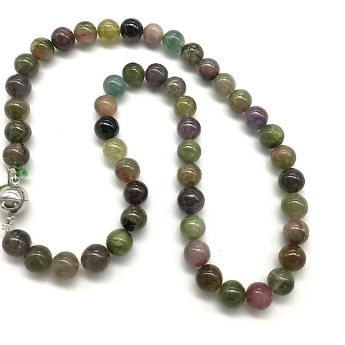 Tourmaline Multi Balls Smooth 1strand 257carats size- 9MM