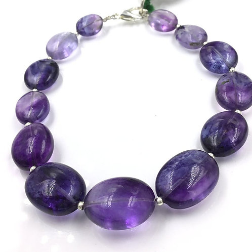 Iolite Oval Beads 99.80, Size =8x9 To 13x16 MM 13 Pieces Necklace Natural Gems