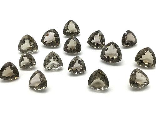 Smoky quartz Trillion Cut Stones Loose 15Pieces 126carats size-13x13 to 16x16MM