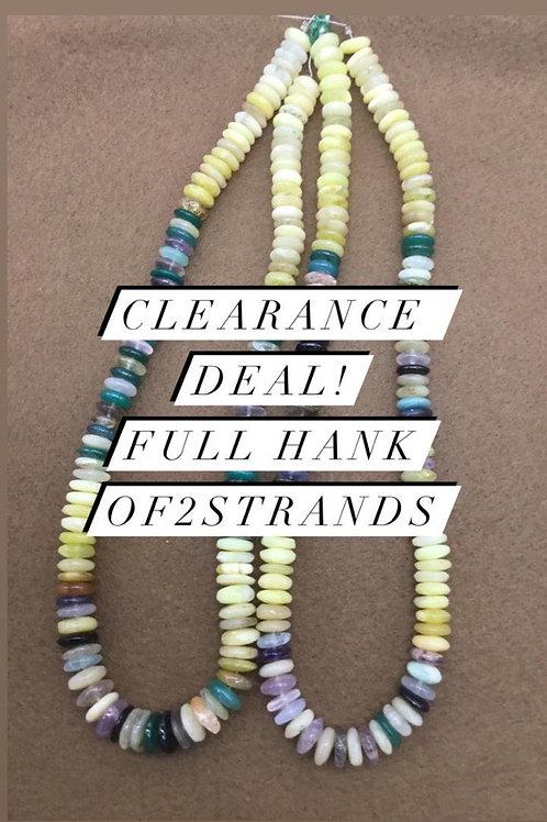 Closeout Sale price Semi multi PlainTyre 2 strands full hank wholesale closeout