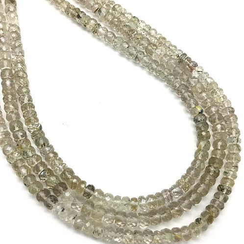 Rutile Faceted Beads 1strand 60carats size- 4 MM