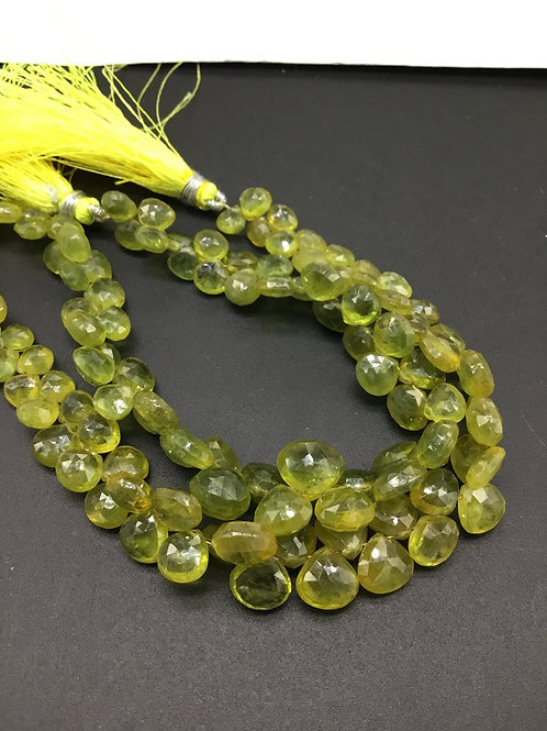 Green / Yellow Sapphire 8 '' Natural gemstone Faceted Pear Shape 114 Ct Gemstone