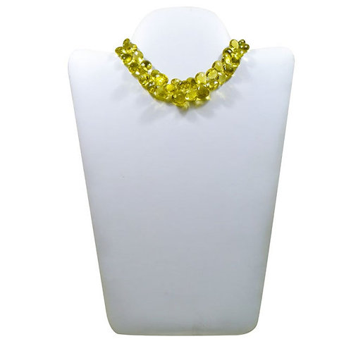 Lemon Quartz !! Happy Anniversary - 8'' Brazil Faceted Pear Gemstone 1 Strand