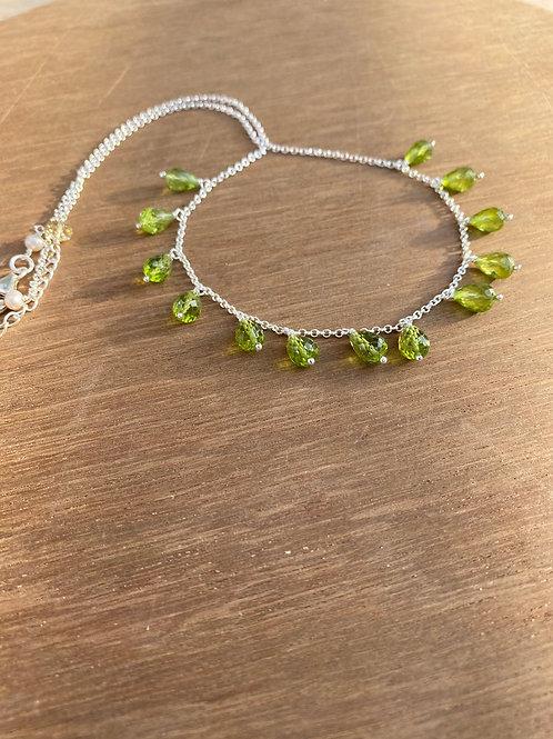 Silver Jewellery 925 Sterling Silver 22'' Semi Multi Gemstone Silver Chain
