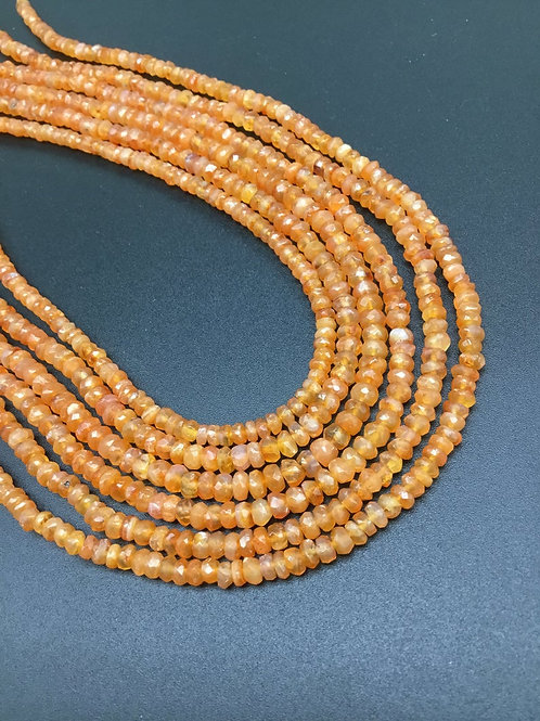 Carnelian Faceted Beads 1 strand