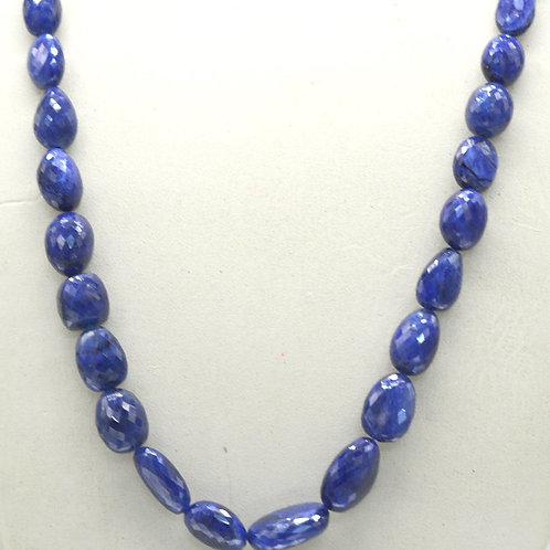 Blue Sapphire 16 '' Treated Faceted Tumble 1 Strand Gemstone 258.95 ct
