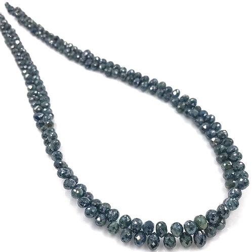 Blue Diamond Drops Beads 13 Inches 2 To 4x3 mm Approx 40 Carats 1 Strand