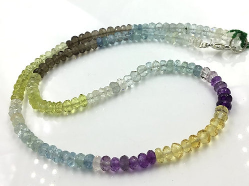 Mixed Gemstone Beads Necklace Natural Gemstones