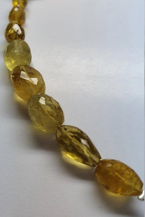 Heliodor Yellow Aqua faceted tumbles 36.85 carats size 7x10 to 8x13mm Aquamarine