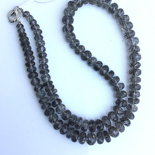 Black Rutile Smooth Balls Beads Natural Gemstone