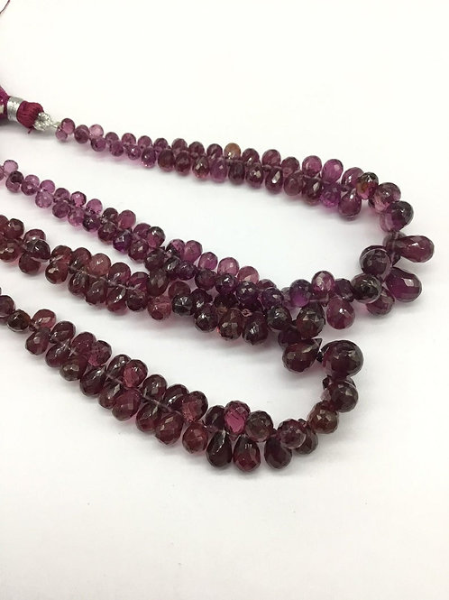 Garnet Faceted Drops Gemstone Jewellery suitable for earrings and drop jewellery