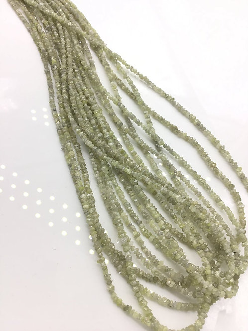 Off White Diamond uncut bead 1strand