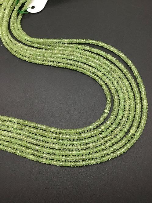 Tsavorite Beads Faceted Natural Gemstone beaded Necklace gems Tsavorite 16''