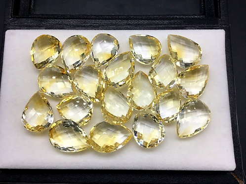 Citrine Pear Faceted Natural Gemstone Necklace , Jewellery Set , Top Quality